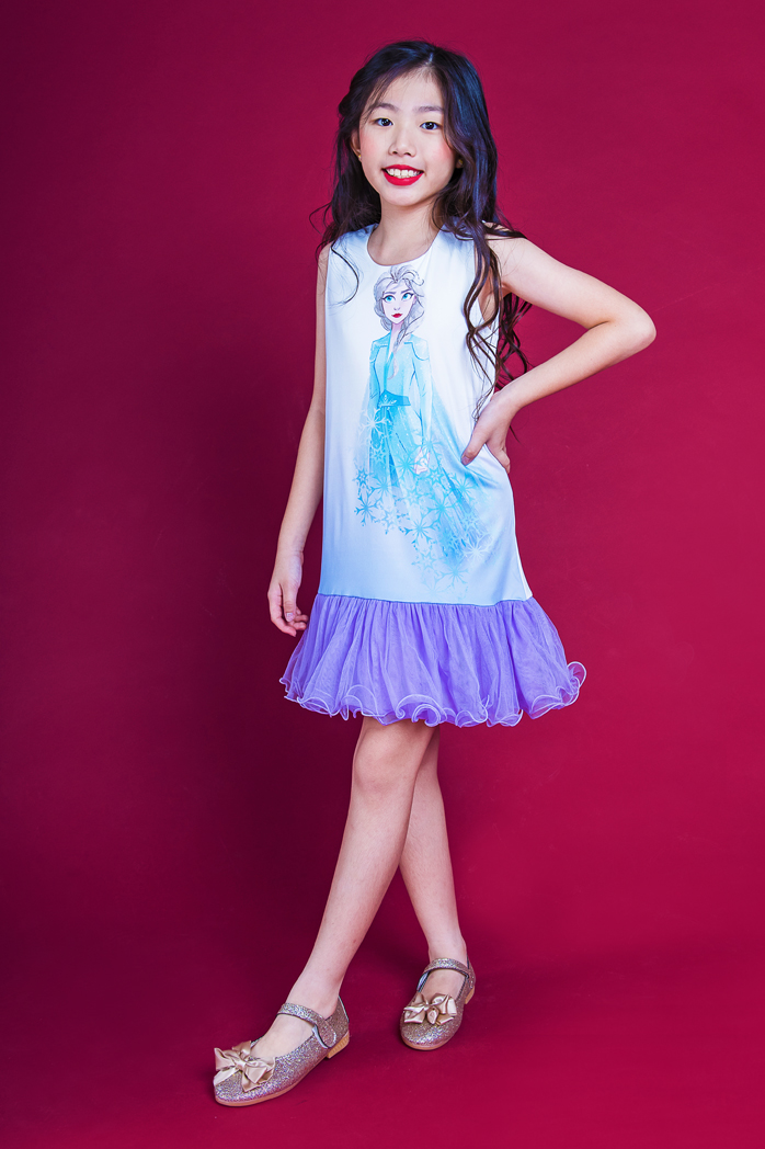 DISNEY FROZEN II SLEEVELESS LAYERED TULLE PARTY DR