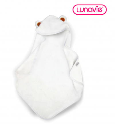BAMBOO HOODED TOWEL (WHI)
