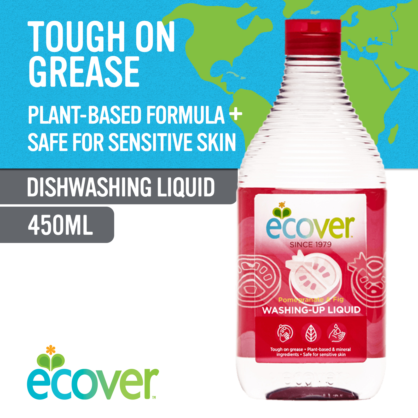 Ecover Washing-Up Liquid - Pomegranate & Fig 450ml