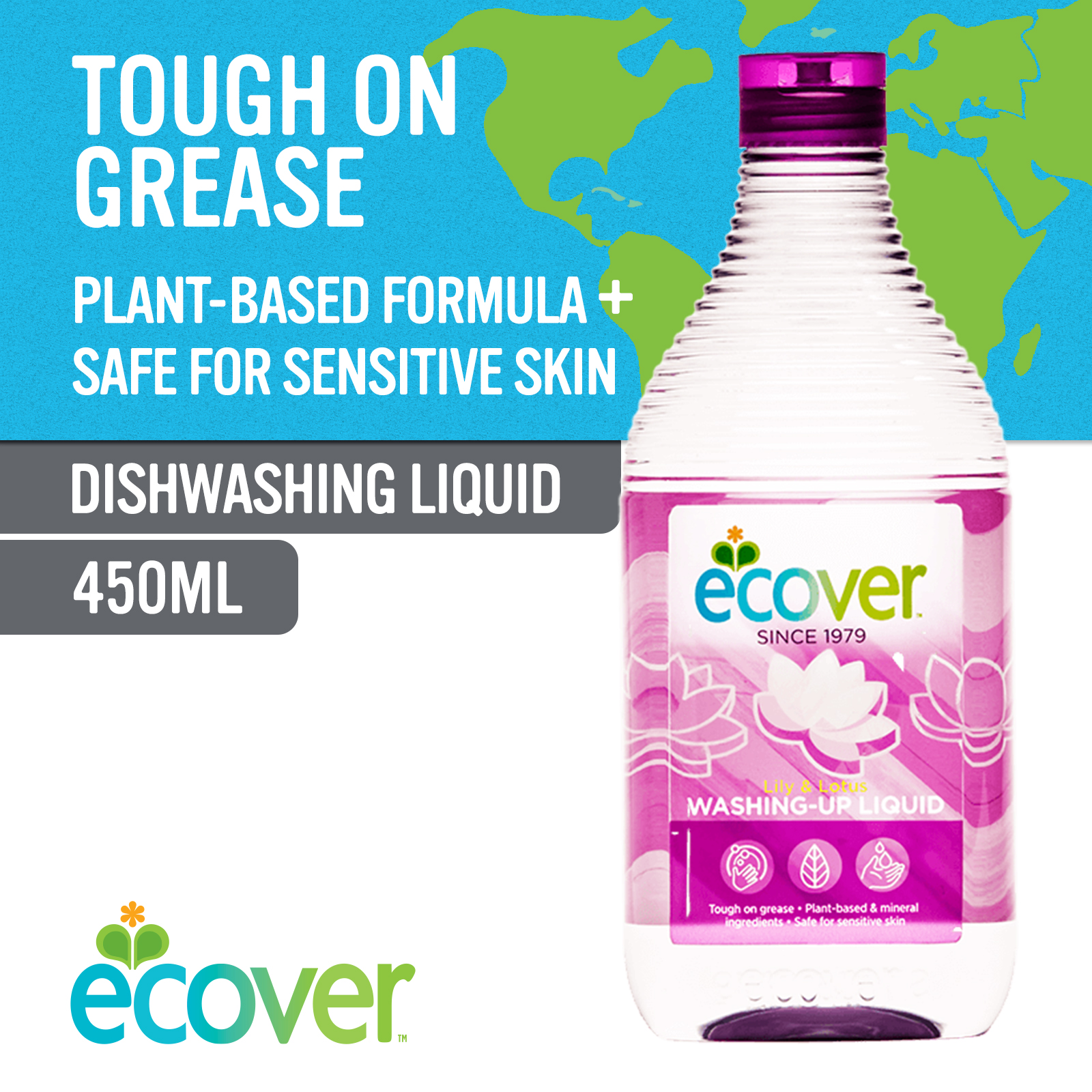 Ecover Washing-Up Liquid - Lily & Lotus 450ml