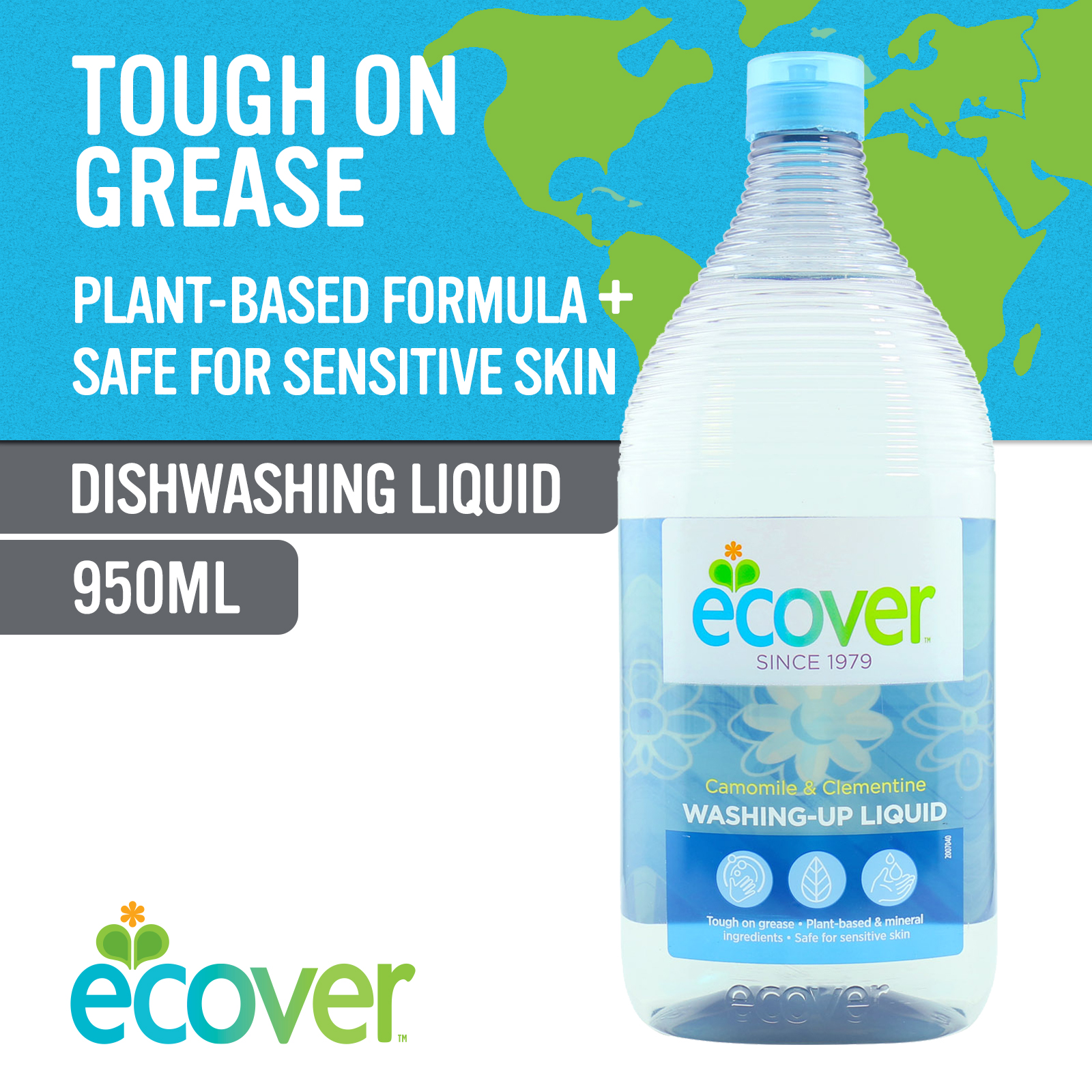 Ecover Washing-Up Liquid - Camomile & Clementine 9