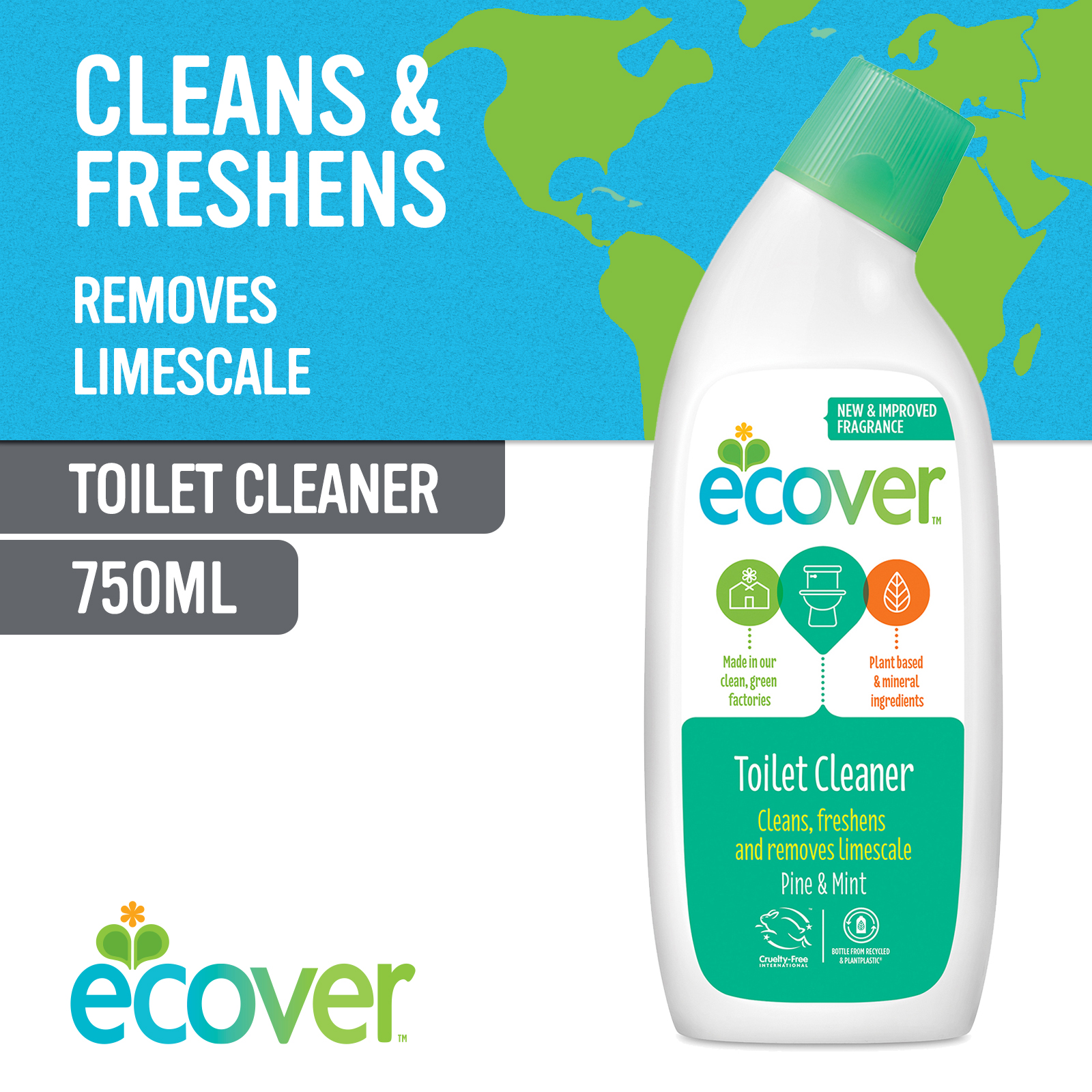 Ecover Toilet Cleaner - Pine and Mint 750ml