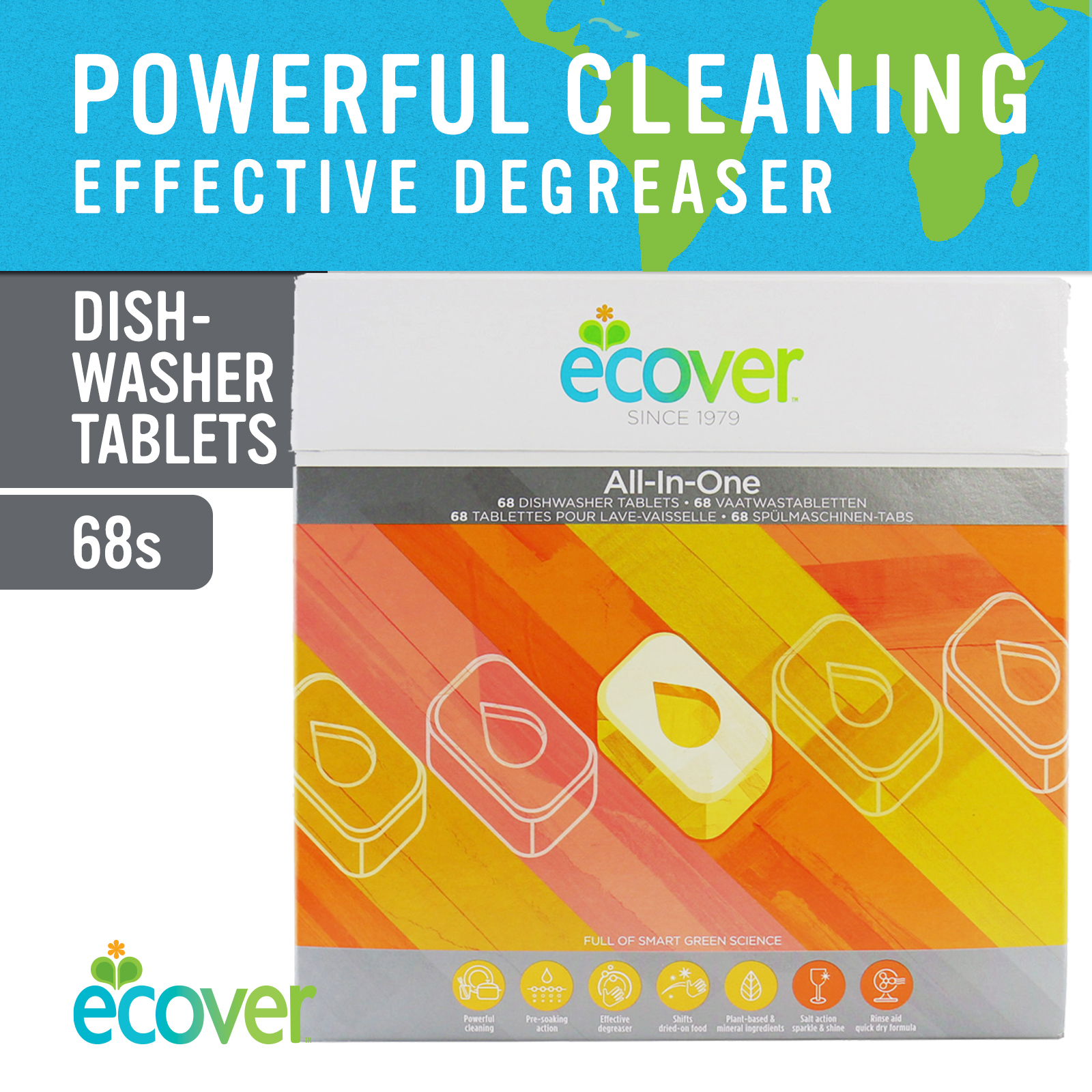 Ecover All-In-One Dishwasher Tablets 68s