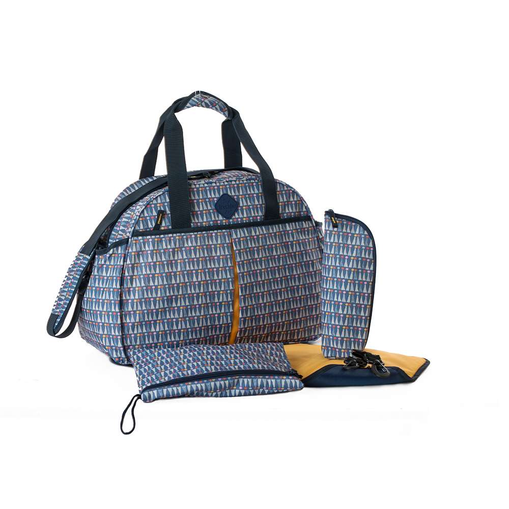 Okiedog Freckles Travel Bag - Triangle Dot Blue