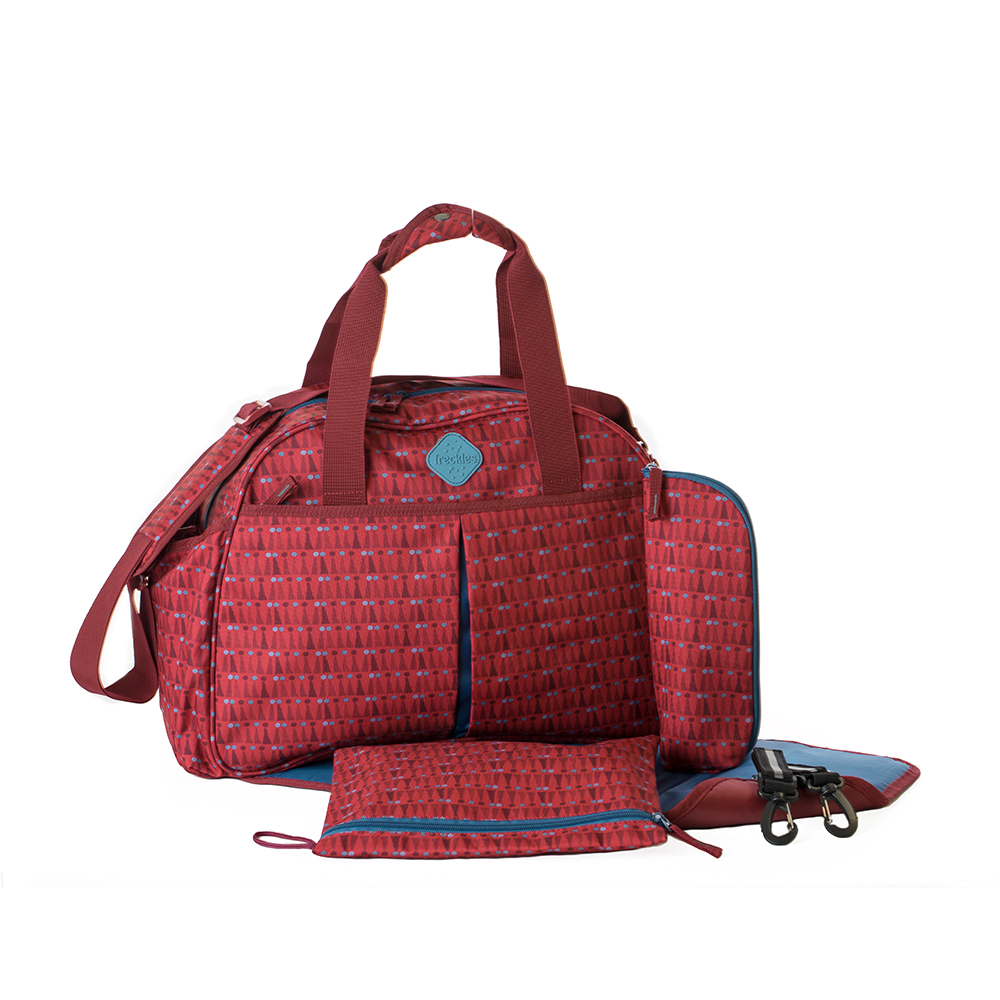 Okiedog Freckles Travel Bag - Triangle Dot Red
