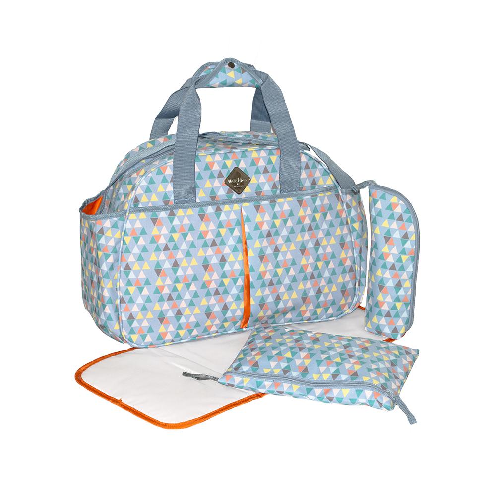 Okiedog Freckles Travel Bag - Triangle Drop Blue