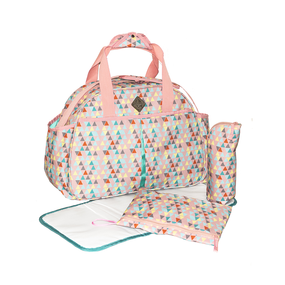 Okiedog Freckles Travel Bag - Triangle Drop Peach