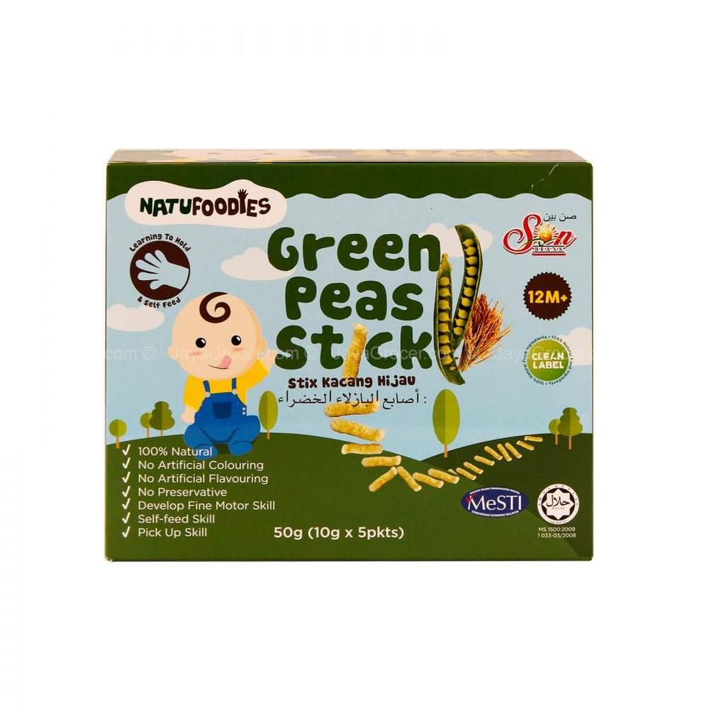 Natufoodies Rice Sticks Green Peas