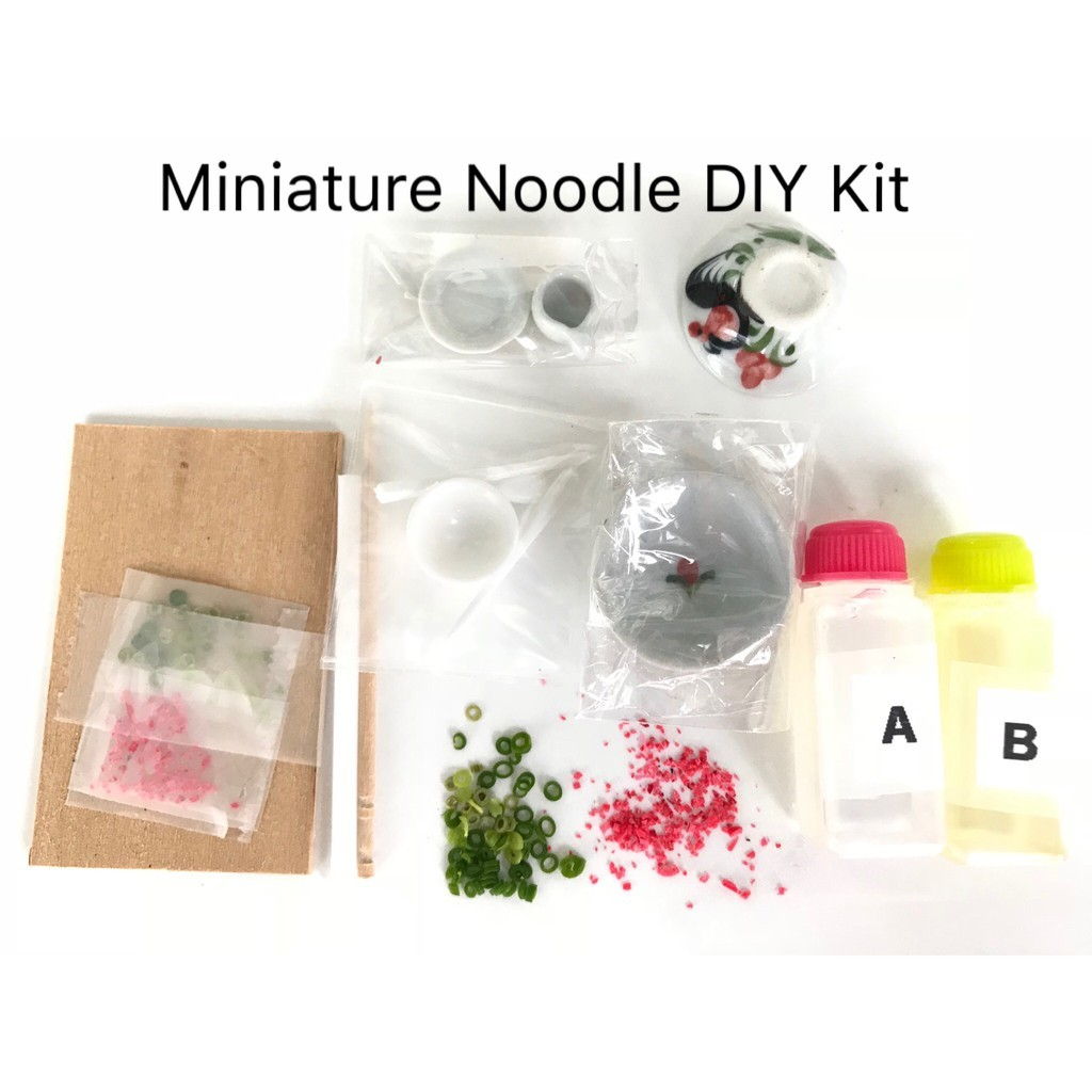 Art & Craft DIY Miniature Food Clay Kit