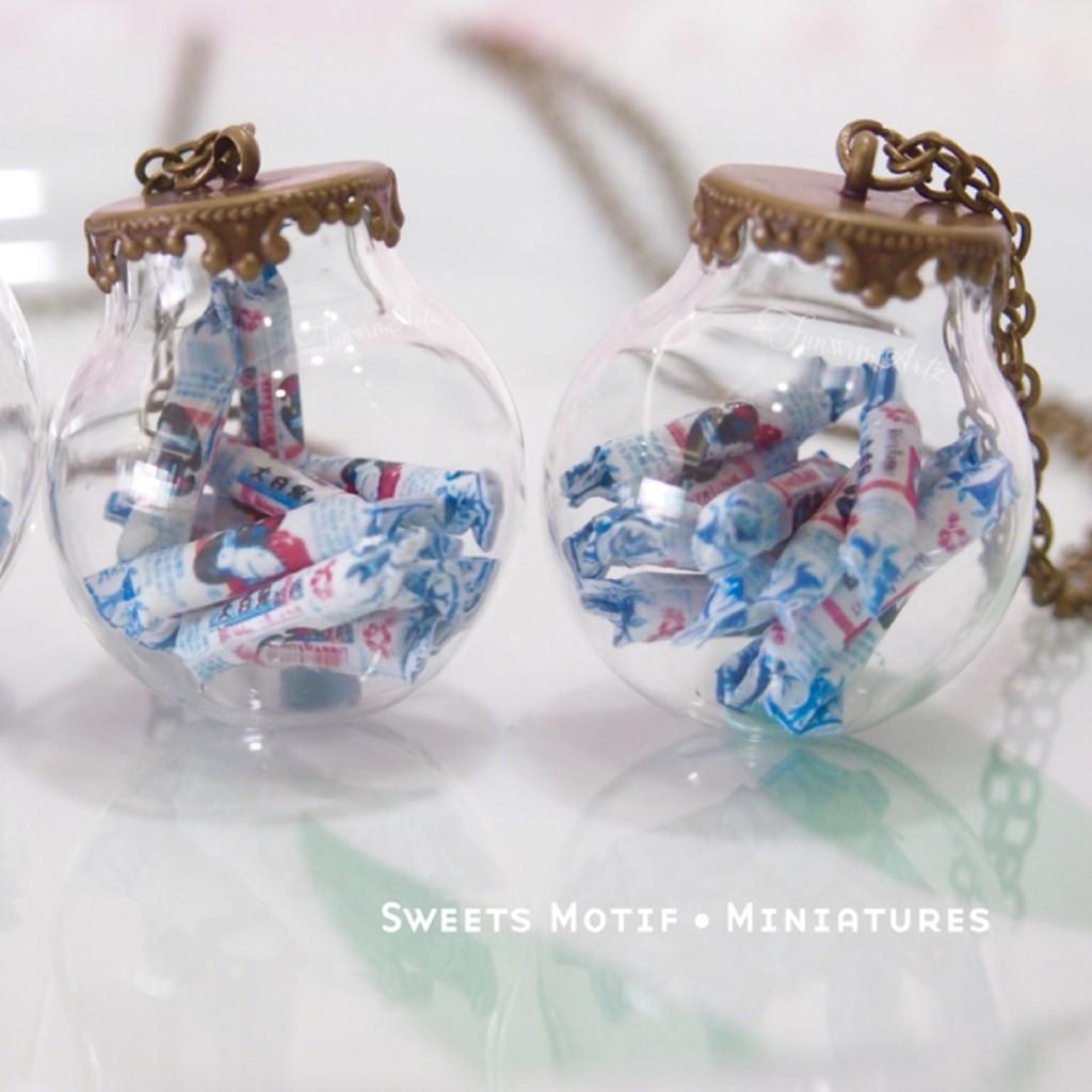 Food Jewelry - White Rabbit Sweet Globe Necklace