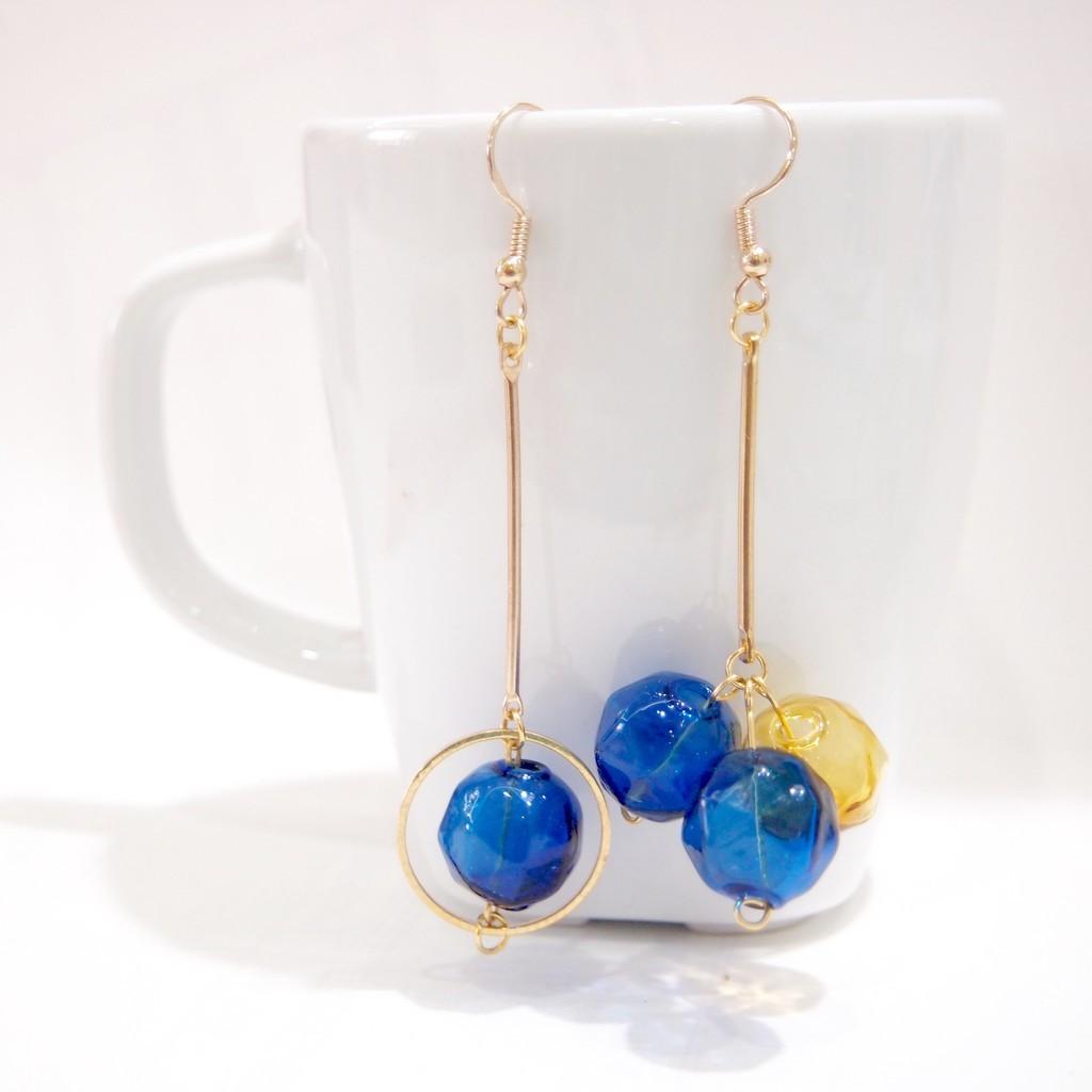 Glass Style Dangle Earrings