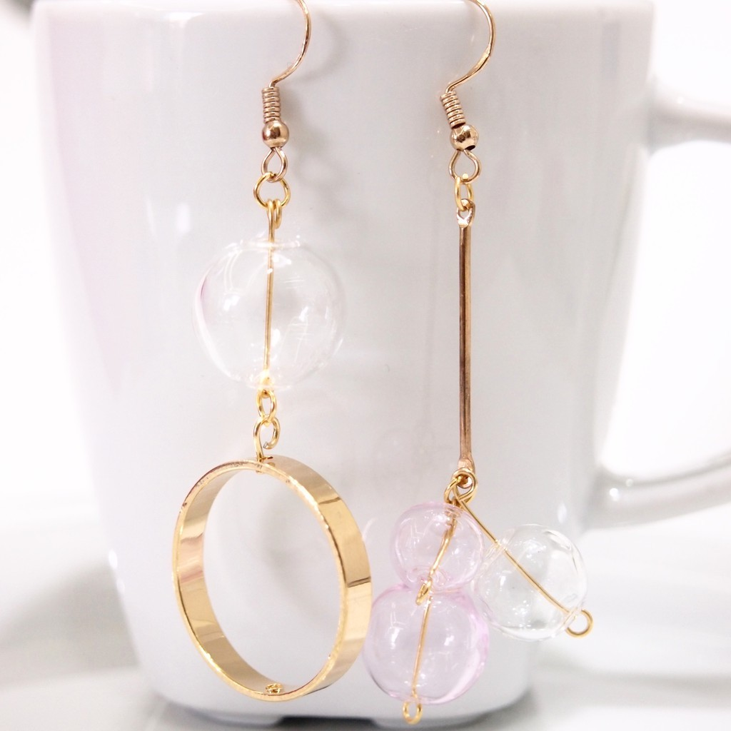 Glass Style Dangle Earrings